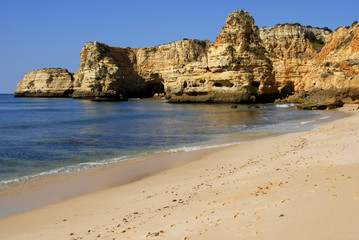 small beach at algarve, the south of portugal