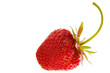 Strawberry close-up isolated over a white background