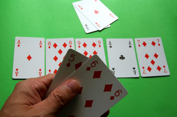 four of a kind Aces lose with poker diamond