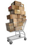 Shopping Cart Shipping Cartons poster