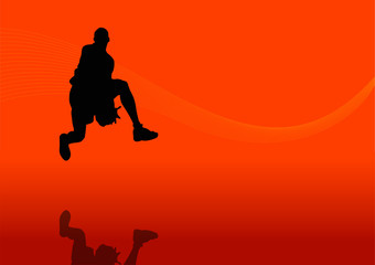 Basketball man silhouette