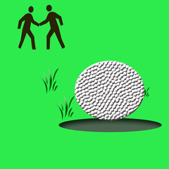golf game illustration