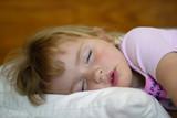 Sleeping Little Girl Portrait poster
