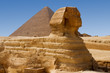 Sphinx and Great Pyramid of Khufu in Giza