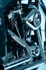 Engine of Motorcycle (monochrome)