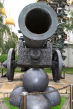 Ancient gun in Moskow Kremlin in the summer, Russia poster