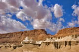 Picturesque ancient mountains about the Dead Sea in Israel poster