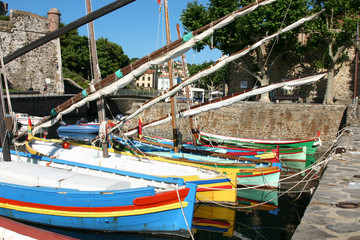 collioure barques catalanes