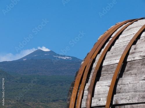 Leinwanddruck Bild Etna grande botte antica