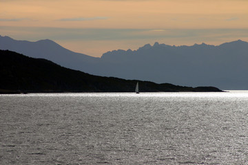 Sunrise Sail on the Magellan Straits
