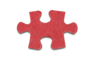 Jigsaw Puzzle Piece on White Background