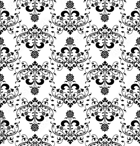 Floral seamless pattern, element for design, vector