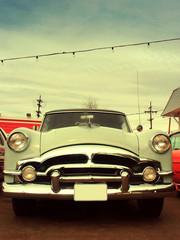 Retro style 50s classic car