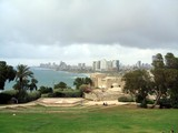 View of Tel Aviv city from Jaffa city in Israel poster