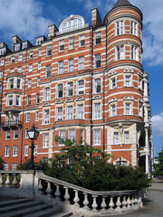 ornate apartment building or hotel, London
