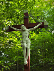 Jesus and the Crucifixion Statue