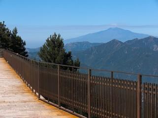Messina panorama Etna dal santuario Dinnamare