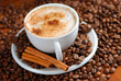 Leinwandbild Motiv Cappuccino