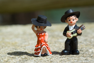 Guitarist and a Spanish dancer doll