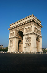 Triumphal arch in the morning