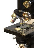 Old Medical Laboratory Microscope poster