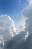 Flying Through the cumulus clouds poster