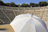 The old amphitheater of Epidavros (Epidaurus) in Greece poster
