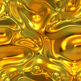 a large image of liquid or molten flowing gold poster
