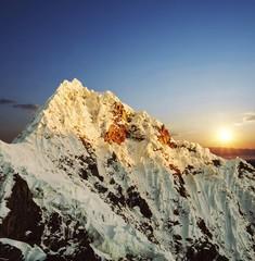 Alpamayo peak in Cordilleras