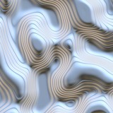 a large abstract image of flowing and moving liquid metal poster