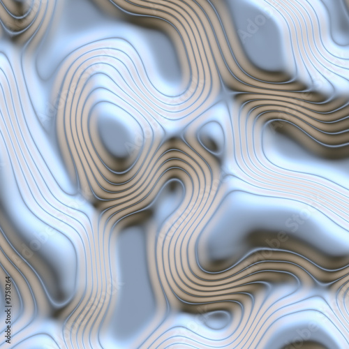 poster of a large abstract image of flowing and moving liquid metal