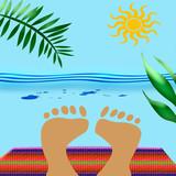 beach blanket poster
