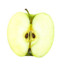 fresh apple fruit cut isolated with clipping path included
