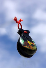 Spanish castanets on a blue sky