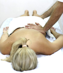 young woman getting chinese medicine treatment