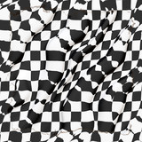 Automobile racing flag poster