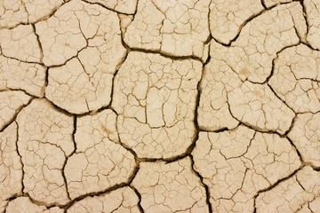 Textura del suelo de barro seco.