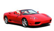 Red convertible sports car