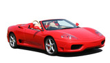Red convertible sports car poster