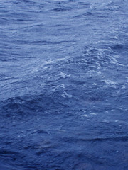 close up of a blue ocean sea swell