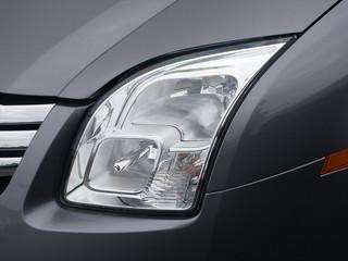 Headlight on new car