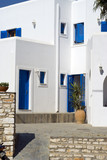 typical greek island architecture  guest house hotel cyclades   poster