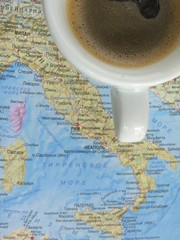 Black coffee attractions Italy