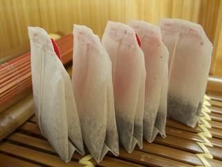 Five tea bags