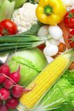 Fototapety Photo of various vegetables. Healthy food