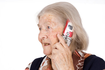 The grandmother, speaks by phone