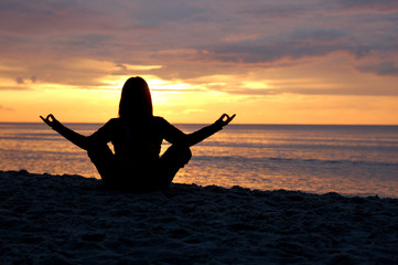 yoga at sunset #9