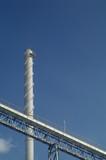 Smoke stack and conveyor belt  poster