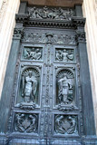 Door of cathedral of Saint Isaac , Saint-Petersburg, Russia poster