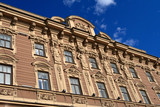 Brown historic building in Saint-Petersburg in summer, Russia poster